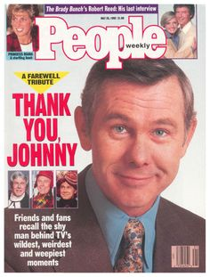 """The commotion over Johnny Carson retiring from The Tonight Show: 50 Things From The Early (That If You're Over Will Make You Say, """"Oh Crap, I Totally Forgot About That! Here's Johnny, Johnny Carson, Famous Men, Famous People, Robert Reed, Joey Lawrence, The Brady Bunch, Book People, Magazine Covers"""