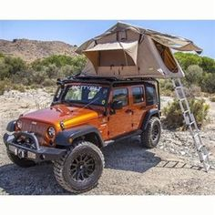 Part #2783 Overlander; Car Top; 95 Inch Width X 56 Inch Length X 51 Inch Height; Waterproof Material With Aluminum Poles; Mesh Windows; With 2 Inch Thick High Density Foam Mattress/ Telescopic Ladder/