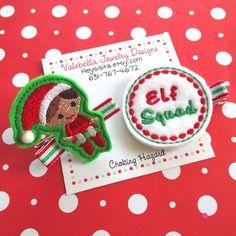 Hair clip Christmas hair clip Elf Squad hair clip shelf elf