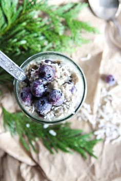 This Rawsome Vegan Life: CINNAMON CHIA PUDDING with COCONUT & BLUEBERRIES