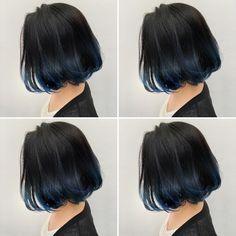 New hair styles bob bangs ideas Long Black Hair, Hair Color For Black Hair, Cool Hair Color, Purple Hair, Ombre Hair, Aesthetic Hair, Haircut And Color, Hair Highlights, Hair Looks
