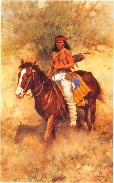 Chiricahua Apache ➳ʈɦuɲɖҽɽwσℓʄ➳. Howard Terpning Native American Models, Native American Paintings, Native American History, Indian Paintings, Apache Indian, Native Indian, Native Art, Domino Art, Native American Indians