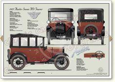 Austin Seven AC Tourer 1924-26 post vintage car portrait print