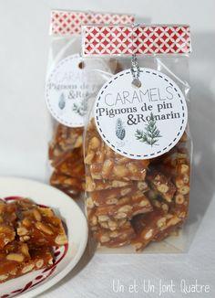 Caramels pignons de pin et romarin