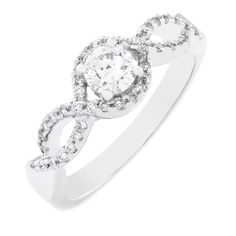 Grow old along with me, the best is yet to come. Double Infinity, The Best Is Yet To Come, Girls Best Friend, Engagement Rings, Diamond, Beautiful, Jewelry, Fashion, Enagement Rings