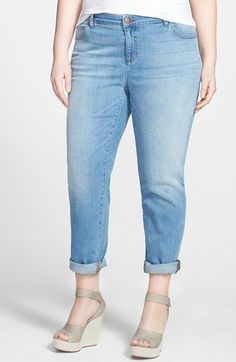 Eileen Fisher Organic Cotton Boyfriend Jeans (Plus Size) available at #Nordstrom