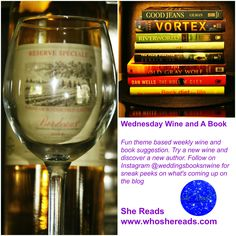 Visit She Reads every Wednesday at 5 pm for the Wednesday Wine and A Book segment and follow on instagram.com/weddingsbooksnwine for sneak peeks