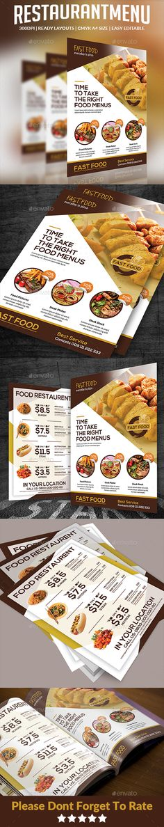 Food Menu Food menu, Food menu template and Menu templates - sample cafe menu template