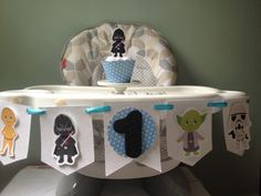 Star Wars 1st or 2nd Birthday Party Highchair Banner by PartyByDrake on Etsy https://www.etsy.com/listing/464781909/star-wars-1st-or-2nd-birthday-party