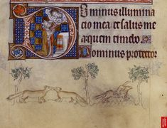 Queen Mary Psalter: England (London/Westminster or East Anglia?), between 1310 and 1320 (London, British Library, MS Royal 2 B VII, f. 112v).