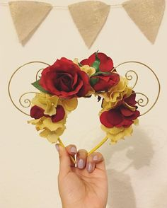 Tale as old as time ✨✨ Belle inspired flower crown Minnie ears! Made to order ☺️ Message me to customize the ears to suit your fancy! #lovelyllamacreations #pretty #flowers #flowercrown #minnieears #wireears #handmade #custommade #belle #disney #beautyandthebeast #enchantedrose #etsy © 2016 Lovely Llama Creations. All rights reserved. This design is subject to copyright. Not to be replicated or reproduced without proper and legal permission.