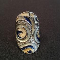 PRICE DROP  Sterling Silver Lauren G Adams ring NWOT Lauren G Adams enamel, silver and stone ring. Incredible detail, beautiful finish inside as well Lauren G Adams Jewelry Rings
