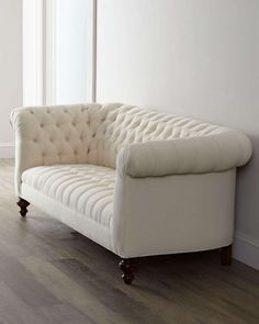 Elegant And Beautiful Cream Beige Cotton Chesterfield Sofa Perfect For Any Home Decor