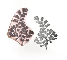 Maidenhair Stamp // leaf stamp // handmade Fern Stamp  by tripolo