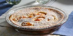 Put a twist on the tradition French dessert by filling this clafouti with apricots and lemon zest. Top with a dollop of lemon-vanilla whipped cream. French Desserts, Italian Desserts, Fun Desserts, Delicious Desserts, Dessert Recipes, Valerie's Home Cooking Recipes, Apricot Dessert, Food Network Canada, Tasty Bites