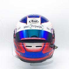 New helmet for @maxveels !! Good luck this weekend #arai #helmet #racing #seat #supercarchallenge #cpz #dtm #circuitparkzandvoort