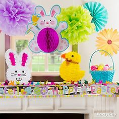 Create a spring scene that'll give everyone the warm fuzzies! Click for more fresh & fun Easter ideas, from décor to beautiful baskets.