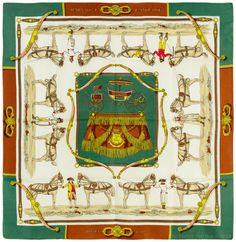Authentic Vintage Hermes Silk Scarf HARNAIS A L'ANGLAISE Hugo Grygkar 1955 #Hermes #Scarf