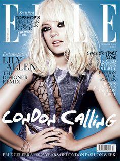 Lily Allen Cover Elle UK Editorial Fashion Music Portrait