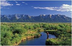 Catch and Release for Cancer event coming up in West Yellowstone. What a view! #LIVESTRONG #cancer