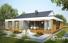 Small Living Room Design, Small House Design, Metal Building Homes, Building A House, Style At Home, Bungalow Conversion, Bungalow Haus Design, Mediterranean Homes, Metal Buildings