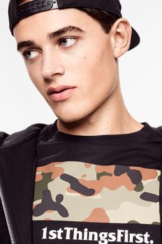 First things first. Black printed tee with camo design.│ H&M Divided Guys