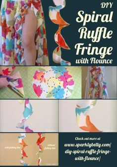 DIY Spiral Ruffle Fringe with Flounce - SPARKLY BELLY