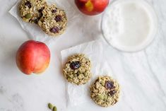 These healthy banana breakfast cookies are like a healthy granola bar in cookie form. The perfect sugar free vegan breakfast cookies. Add whatever mix ins you love!