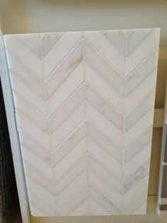Kitchen: Backsplash Tile...chevron tile pattern...yes, please
