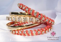 <3 coral, gold + a bit of bling.