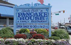 Uncle Bills Pancake House. My favorite breakfast spot in Cape May New Jersey.