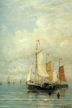 A Moored Fishing Fleet