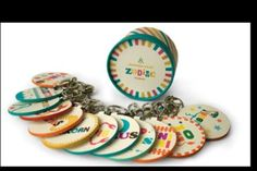 NEW Jonathan Adler - Zodiac Keychain - Your Choice of 1 of the 12 Signs