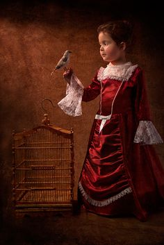 Birdcage : Photography by Bill Gekas (Greek-Australian), Model: His daughter, Athina