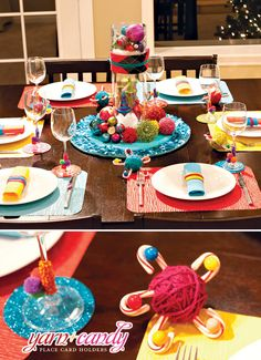 christmas colorful & crafty table