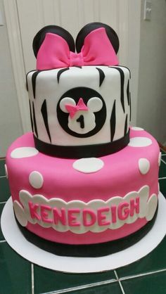 Amy's Crazy Cakes - Minnie Mouse 1st Birthday Cake
