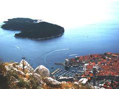 Lokrum and the old port of Dubrovnik, Croatia
