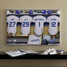 La Dodgers Mlb Personalized Locker Room Canvas Print