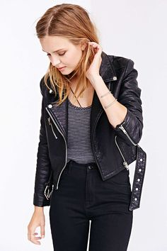 30 Faux Leather Jackets That Look Like The Real Deal #refinery29 http://www.refinery29.com/faux-leather-jacket#slide14