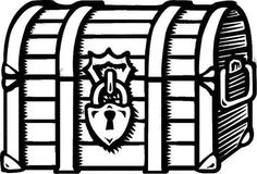 Treasure Chest A Drawing Of Locked Coloring Page