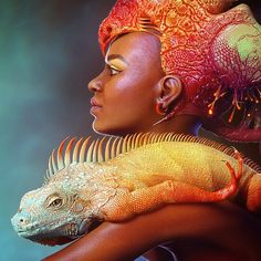 """I am so excited to introduce you my new artwork """"Reptile Queen"""" that I've started in far 2011 and dedicate to my lovely iguana-pet Tamerlan. All past months I was working on it really hard to fit the contest """"A Tribute to Boris Vallejo and Julie Bell"""" deadline. And finally - DONE! Hope you will like it :) Thanks for watching! #cg #zbrush #3dmax #3d #3dmodel #illustration #visualisation #sculpting #model #digital #vray #sss #render #reptile #queen #lizard #Dinosaur #iguana #girl #fantasy…"""