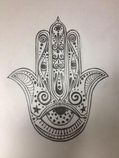 Hamsa doodle by Adhara -- what fun!