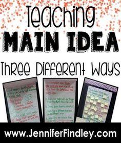 Teaching Main Idea, Teaching Reading, Teaching Spanish, Teaching Resources, Teaching Ideas, Learning, Main Idea Lessons, Math Lessons, Main Idea Activities