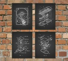 Computer Geek Wall Art Poster Set of 4 No.1 by QuantumPrints