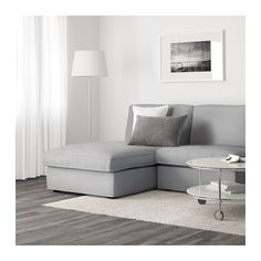 KIVIK One-seat section with chaise - Orrsta light gray - IKEA