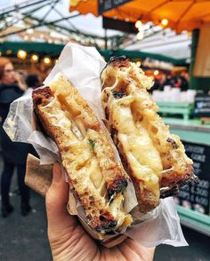 Toasted Cheese Sandwich w/ Montgomery's Cheddar Agleshield Comtè Bermondsey Hard Pressed leeks onions   Kappacasein [London UK]  If this ain't LOVE then I don't know what love is  #VancouverFoodieAbroad  Tag someone you love as much as this ooey-gooey grilled cheese  by vancouverfoodie