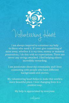Affirmation - Volunteering Heart