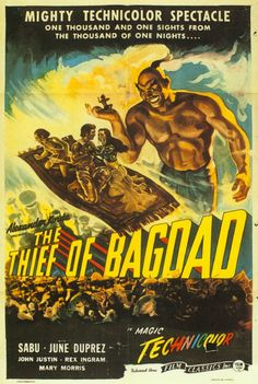 The Thief of Bagdad (1940) This was on Turner Classics recently and while watching it I had this amazing déjà vu and suddenly remembered that I had seen it when I was a kid with my cousins at our Grandmother's house. It was as vivid as yesterday.