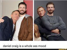 Daniel craig is a whole ass mood - iFunny :) Marvel Funny, Marvel Memes, Celebrity Crush, Celebrity Guys, Celebrity Style, Daniel Craig James Bond, Z Cam, Chris Evans Captain America, Marvel Cinematic