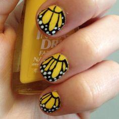 Beautiful butterfly nails. #nail #art